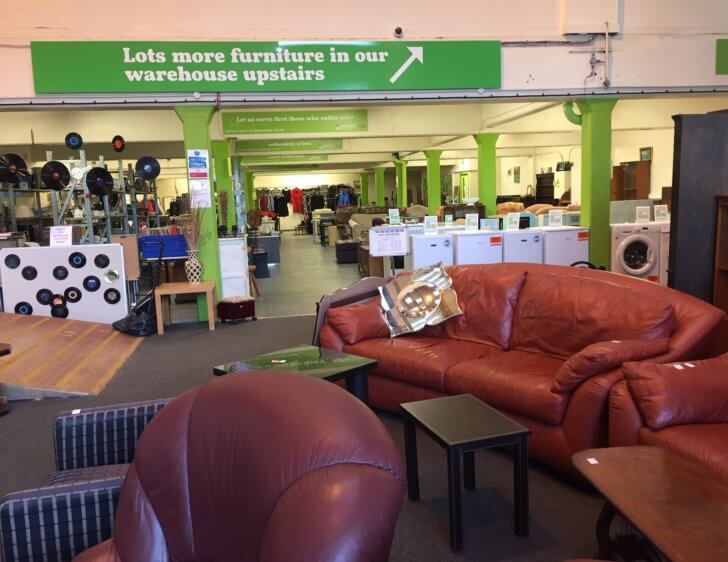Emmaus Furniture Mine: our shop and warehouse