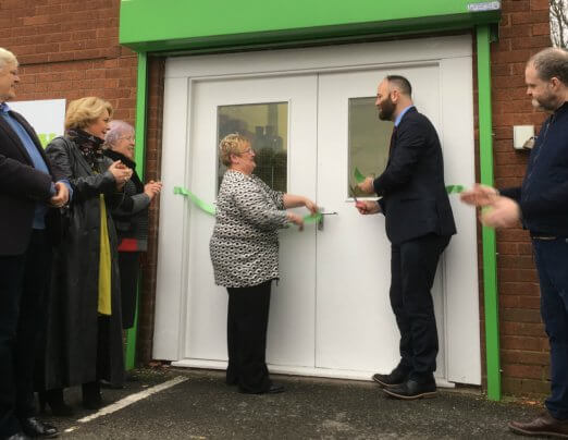 Mayor of Salford opens Lucie's Pantry