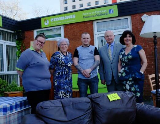 Special guests take a tour of Emmaus Salford
