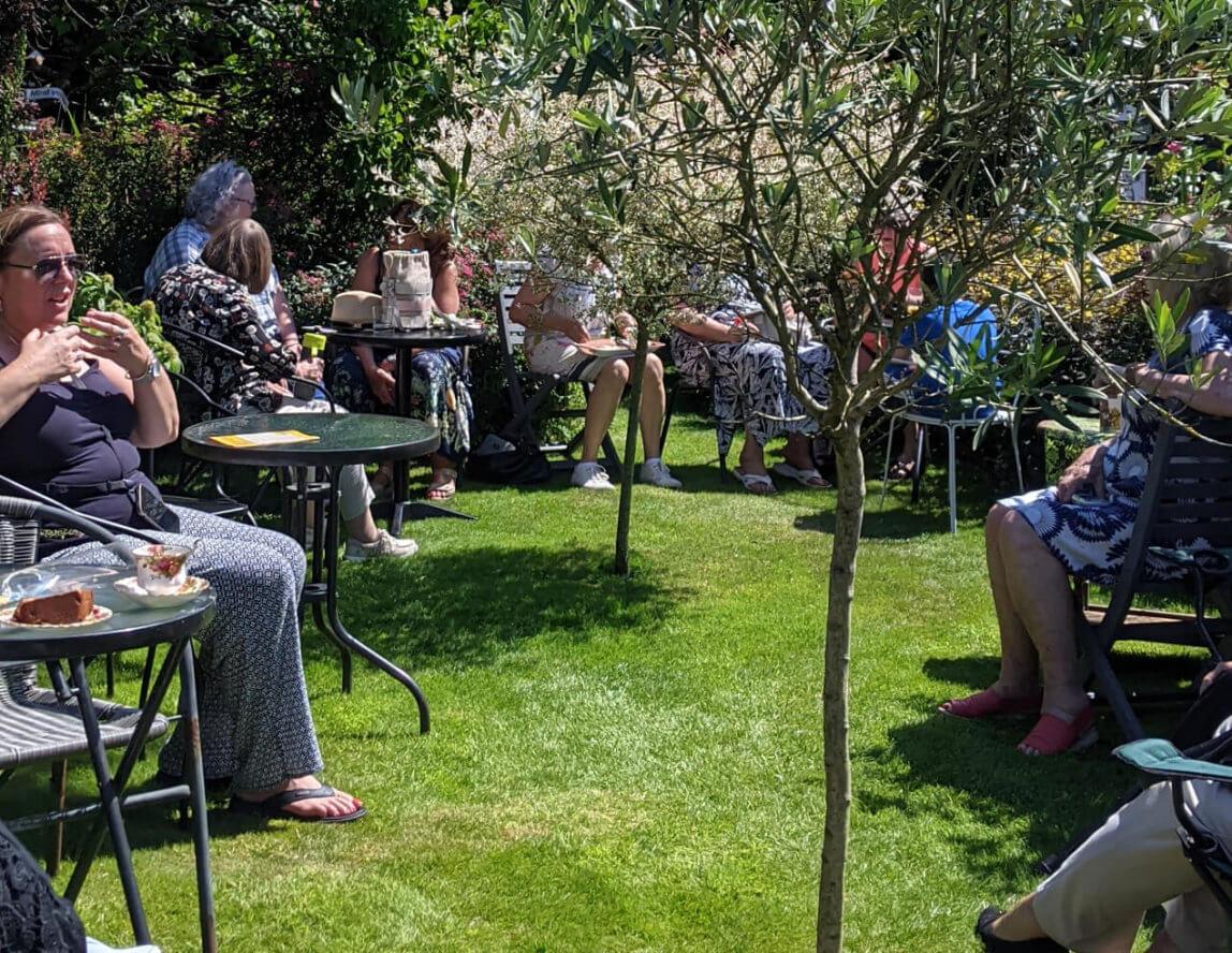 Chris's first garden fundraiser event