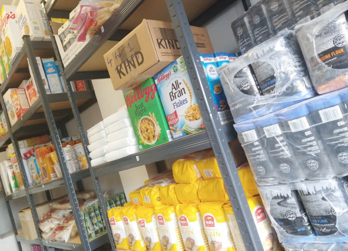 Donate food and household items