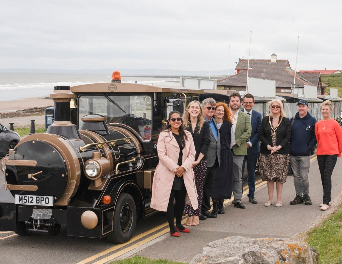 Lucie the Porthcawl Land Train takes to the roads