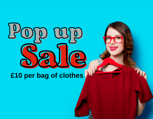 Pop Up Clothes Sale this Sunday 11th July