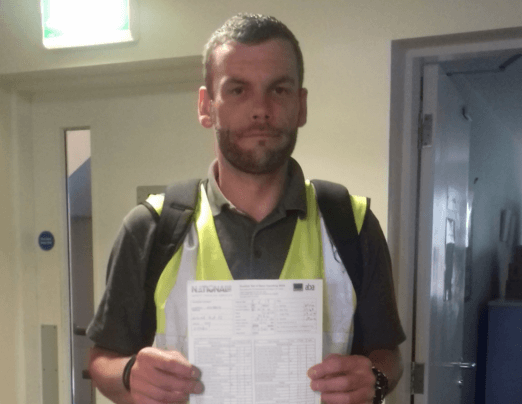 Lukasz gained his forklift truck licence