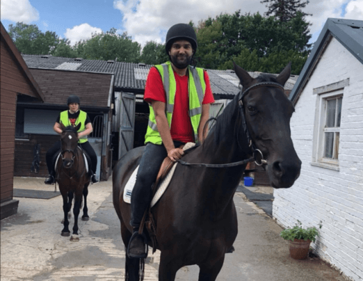 Companions at Emmaus Oxford took horse riding lessons